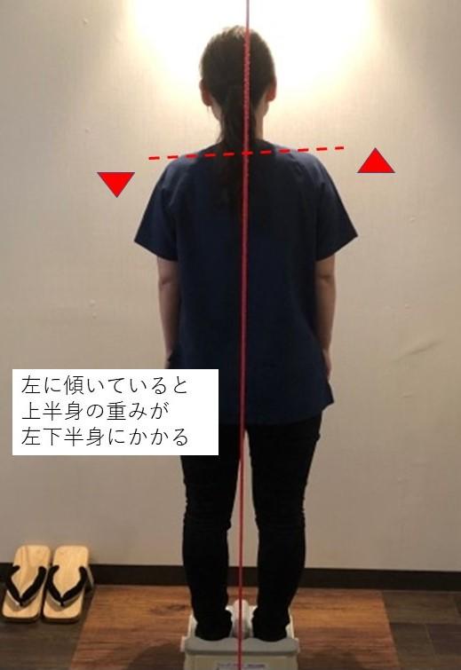 傾いた姿勢の写真